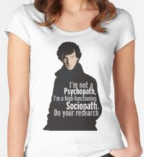 Sherlock - Psychopath/ Sociopath Women's Fitted Scoop T-Shirt