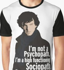 Sherlock - Psychopath/ Sociopath Graphic T-Shirt