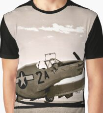 Tuskegee P-51 Mustang Vintage Fighter Plane Graphic T-Shirt