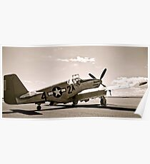 Tuskegee P-51 Mustang Vintage Fighter Plane Poster