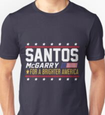 Santos and McGarry Campaign Poster from West Wing T-Shirt
