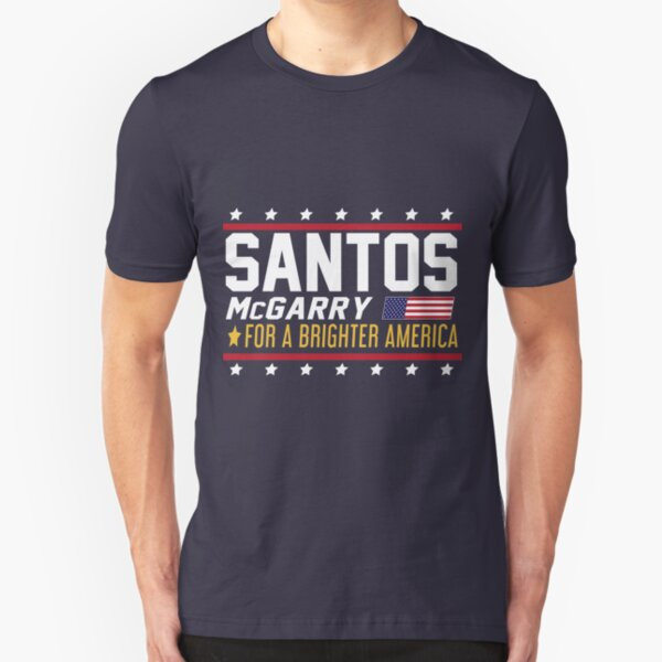 Santos and McGarry Campaign Poster from West Wing Slim Fit T-Shirt