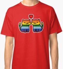 Neko Atsume Gay Pride Merch Classic T-Shirt