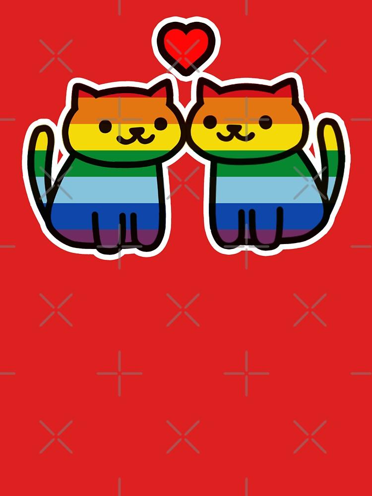 Neko Atsume Gay Pride Merch by Elisecv
