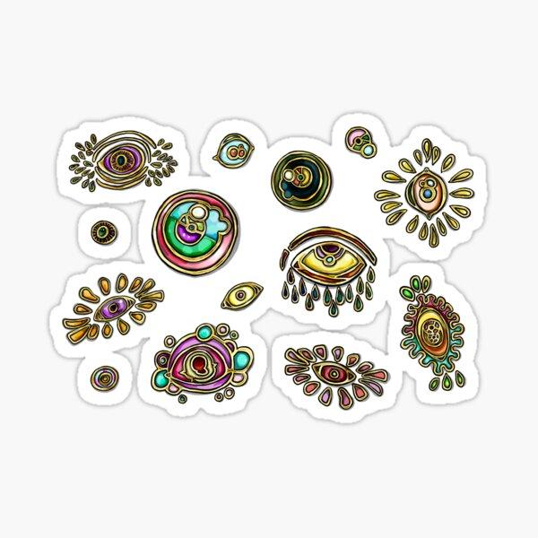 Gold Deco Eyes  Sticker