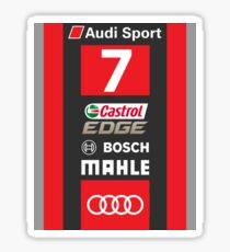 Audi R18 e-tron #7 LeMans 2016 Sticker