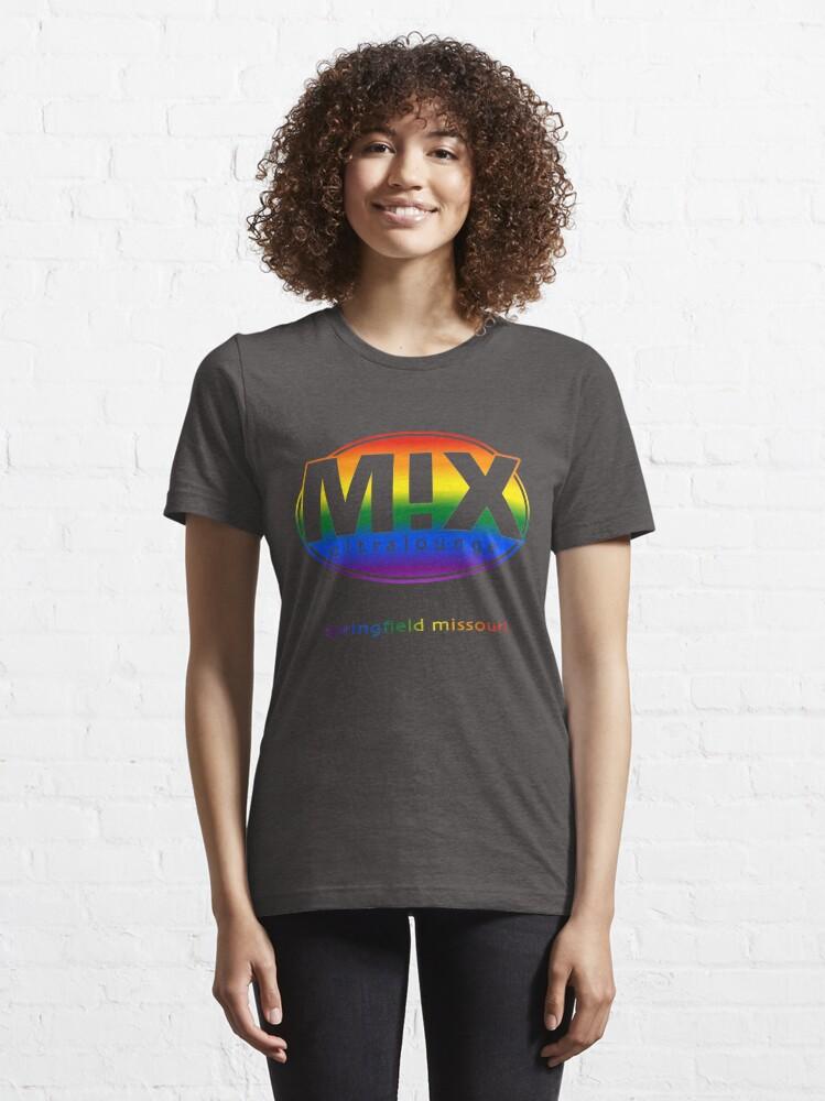 Alternate view of Mix Ultralounge Rainbow Logo on Black Essential T-Shirt