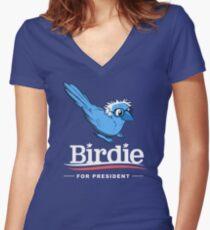 Birdie Sanders Women's Fitted V-Neck T-Shirt