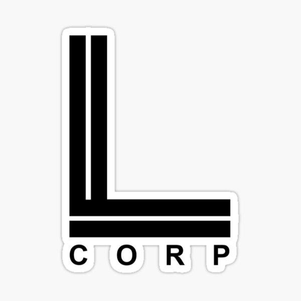 Logotipo de L Corp Pegatina