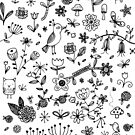 Fun Floral Doodles by Ray  of Light