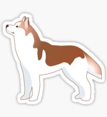 Siberian Husky Basic Breed Illustration Silhouette Sticker