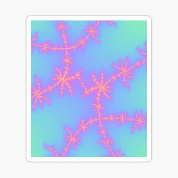 fractal strike in pastel sea green Sticker