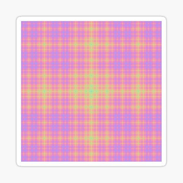Pastel Sierpinski Fractal Star Burst Sticker