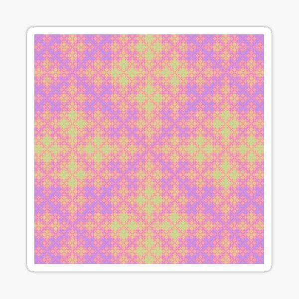 Pastel Sierpinski Fractal Clover Sticker