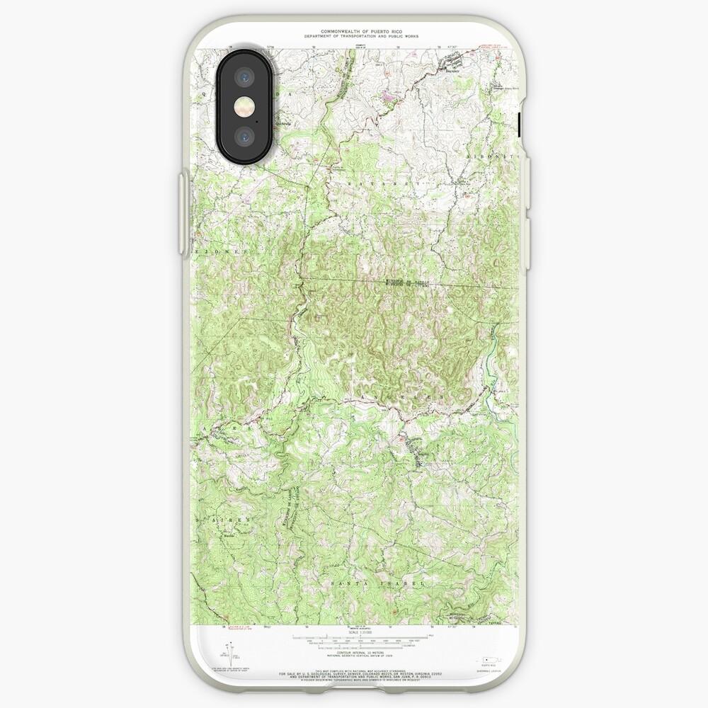 USGS TOPO Map Puerto Rico PR Bayaney 362049 1970 20000 Funda y vinilo para iPhone