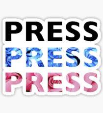"SHINee Taemin - ""PRESS"" Logo Design Sticker"