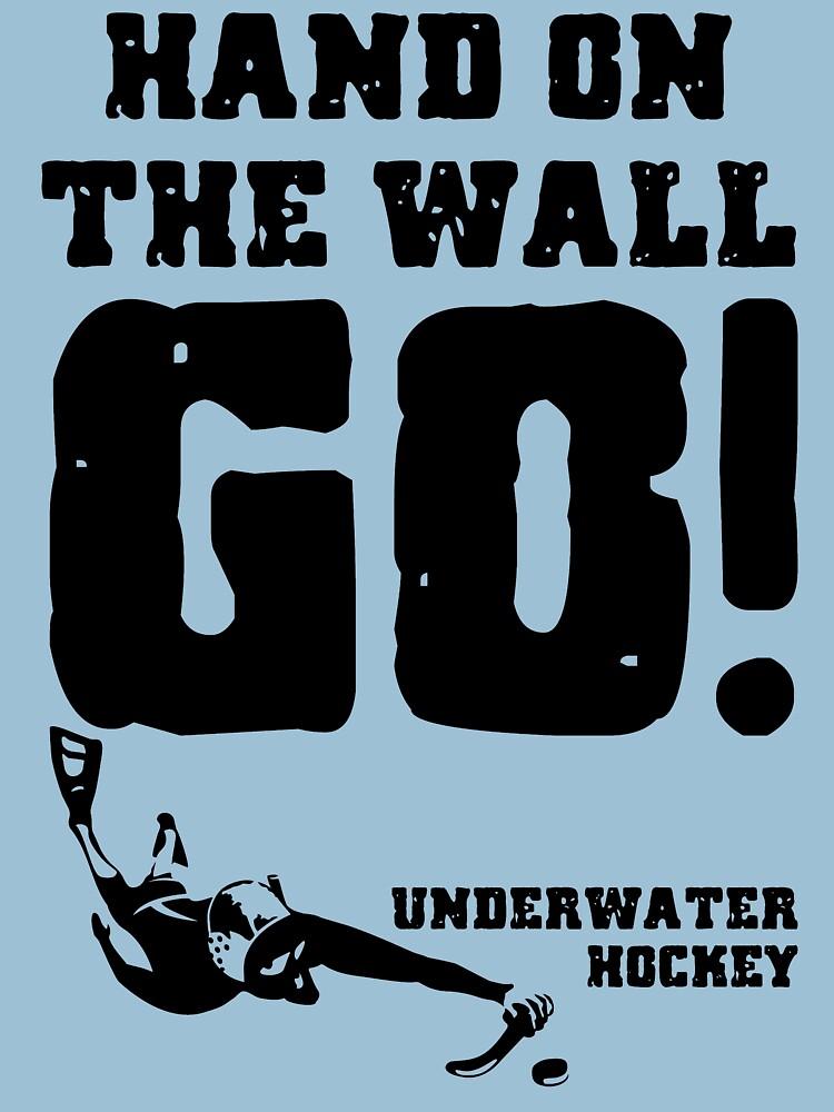 Underwater Hockey Hand On The Wall by BOLD-Australia