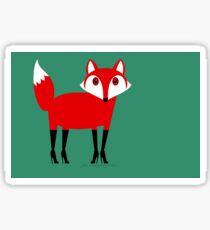 FOX WEARING STILETTOS Sticker