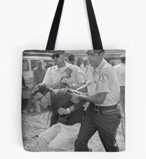 bernie sanders arrest Tote Bag