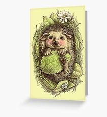 Little hedgehog colored Greeting Card