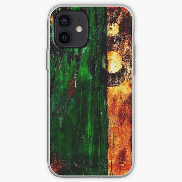 Acid warm metal texture for urbex print iPhone Soft Case