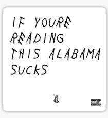 Alabama Sucks Sticker
