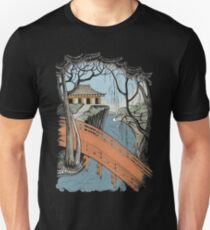 Landscape with bridge and willow T-Shirt