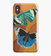 Blue and Green Butterflies Painting iPhone Case/Skin
