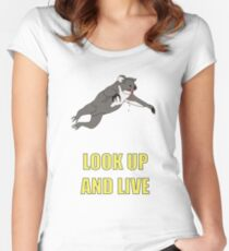 Look Up And Live Women's Fitted Scoop T-Shirt