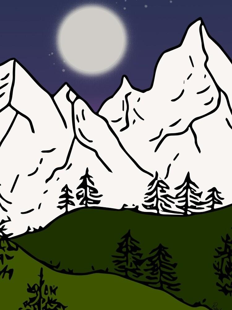 weisse berge von RanitasArt