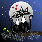 Cats in Love, vector illustration by walstraasart