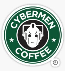Cybermen Coffee Sticker