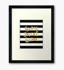 Home Sweet Home Gold Foil Framed Print
