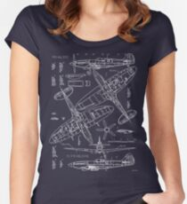 Spitfire Concept Blueprints Women's Fitted Scoop T-Shirt