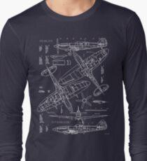 Spitfire Concept Blueprints Long Sleeve T-Shirt