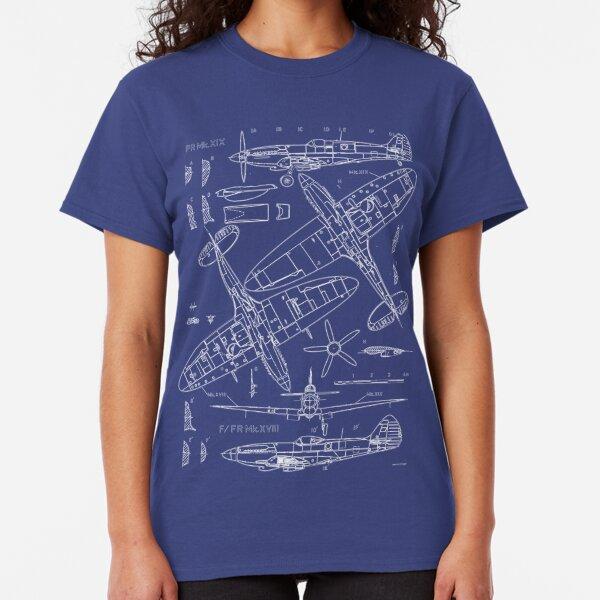 Spitfire Concept Blueprints Classic T-Shirt