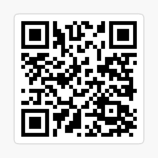 Code QR RickRoll Sticker