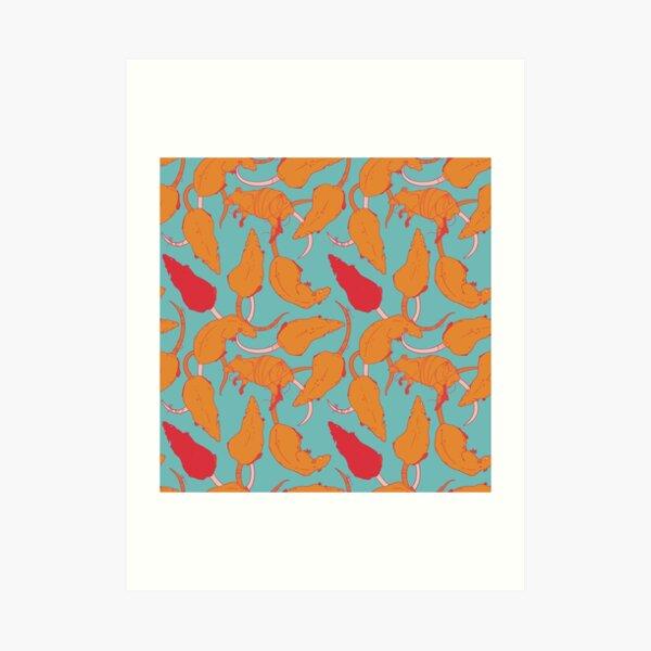 RATS PATTERN (Citrus) Art Print