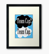 Team Cap? Team Cap Framed Print