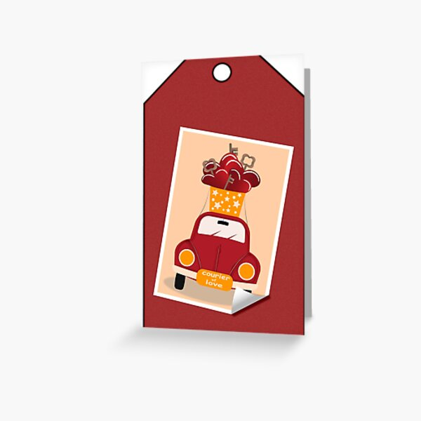 Courier of Love Greeting Card