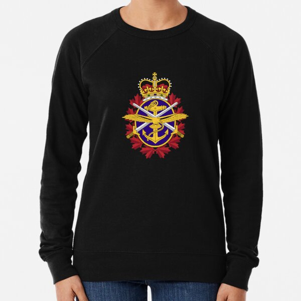 Canadian Armed forces coat of arms flag Lightweight Sweatshirt