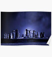 Stonehenge at Night Poster