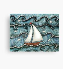On The Sea by Leslie Berg 2014 Canvas Print