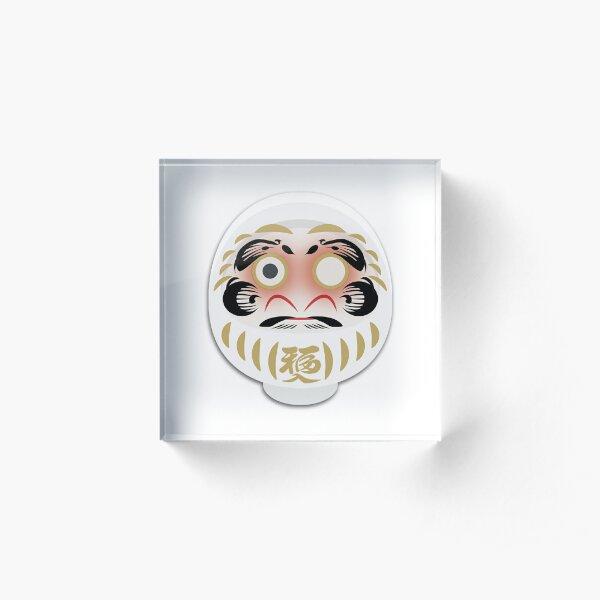 Daruma blanc Bloc acrylique