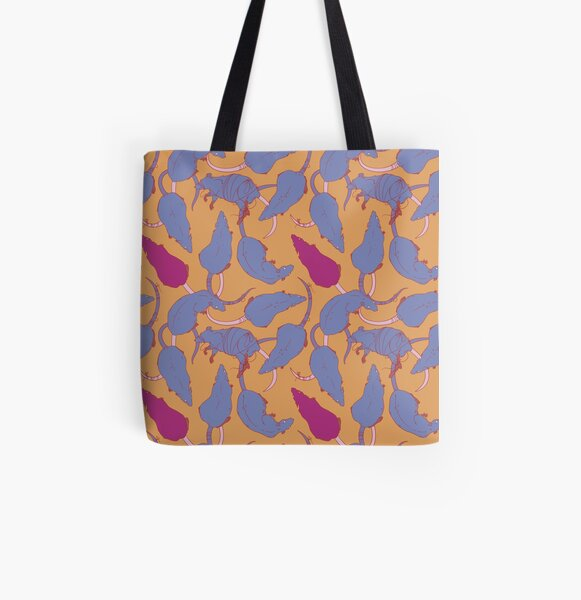 RATS PATTERN (Plum) All Over Print Tote Bag