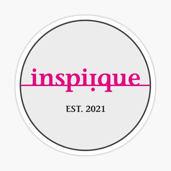 inspiique - your inspiration boutique (Logo grau) Sticker