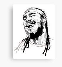 Post Malone Drawing Canvas Print