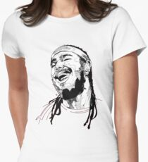 Post Malone Drawing Womens Fitted T-Shirt