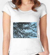 Tree Sillhouette Women's Fitted Scoop T-Shirt