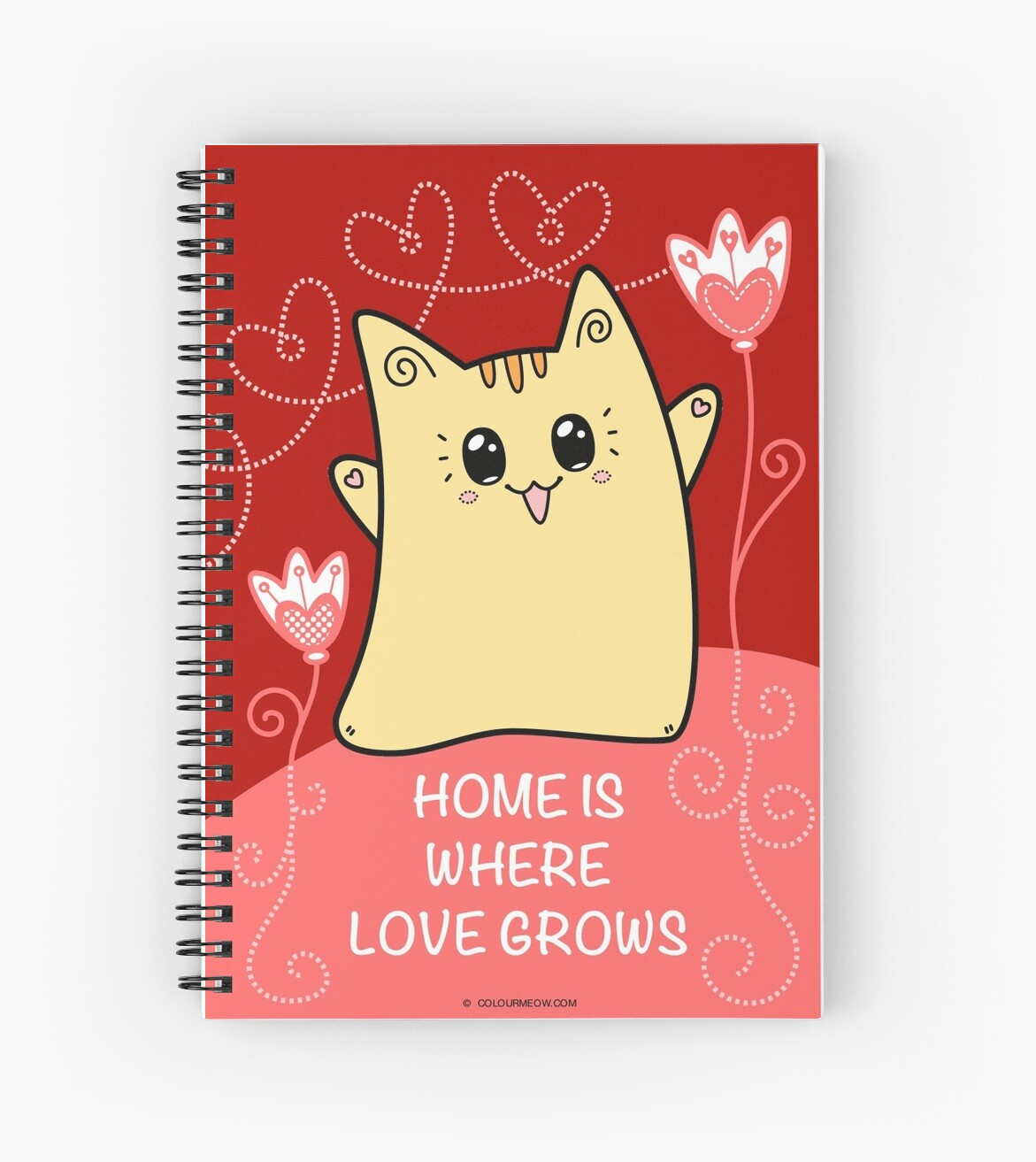 Cute Kawaii Cat Neko Yoko - Home of Love by Natalie Cat